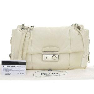 Prada PRADA Shoulder Bag Nappa Bomber Bianco White BR5024