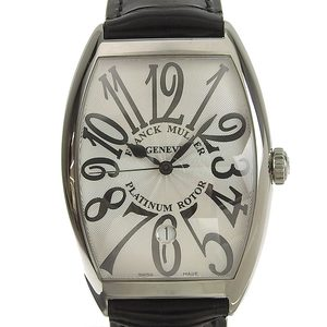 FRANCK MULLER Tonneau Curvex Guilloche dial Arabic index Mens Watch
