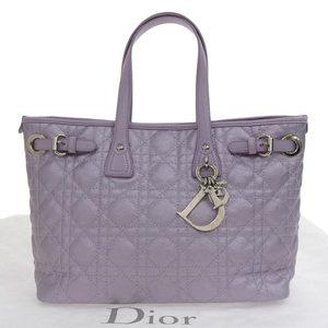 Christian Dior Panarea Hand bag Purple Silver Hardware 01 BO 0172