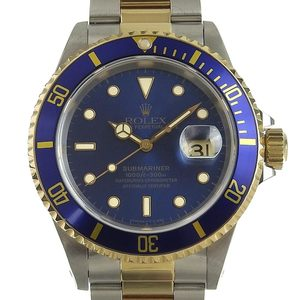 ROLEX Submariner Date Combination Mens Automatic Watch 16613 W Serial