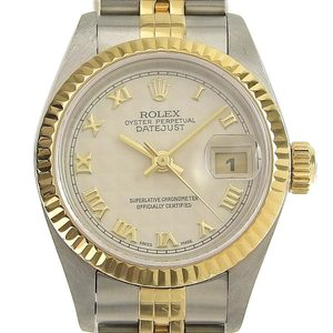 ROLEX Datejust Combi Ladies Watch Pyramid Dial 69173 T Serial