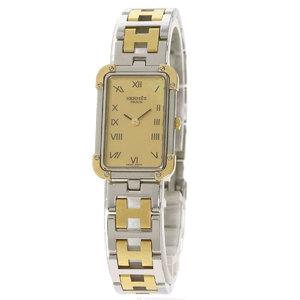 Hermes CR1.220 Chloé Azure Watch Stainless Steel SS GP Ladies HERMES