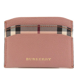 Burberry Logo Type Nova Check Card Case Leather Ladies BURBERRY