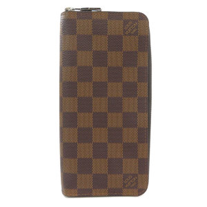 Louis Vuitton N61207 Zippy Wallet Vertical Damier Ebene Canvas Unisex LOUIS VUITTON