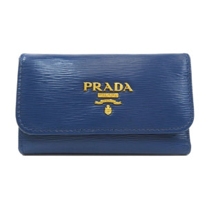 Prada logo type bracket key case leather ladies PRADA