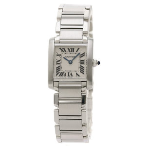 Cartier W510080Q3 Tank Francaise SM Watch Stainless Steel SS Ladies CARTIER