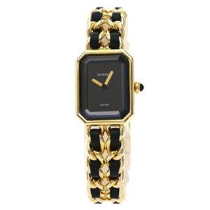CHANEL Premiere Size L Gold Plated Quartz Ladies Watch H0001