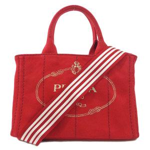 Prada Kanapa Mini 2WAY Handbag Canvas Ladies PRADA