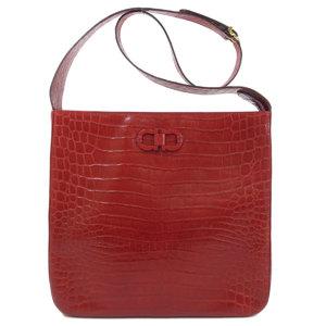 Salvatore Ferragamo Gancini Shoulder Bag Leather Ladies