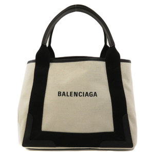 Balenciaga 339933 Navy Hippo S Tote Bag Canvas Leather Women's BALENCIAGA
