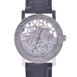 BVLGARI Bvlgari-Bvlgari 18K White Gold leather Automatic Unisex Watch BBW33GLSKP