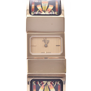 HERMES Loque Gold Plated Quartz Ladies Watch LO1.201