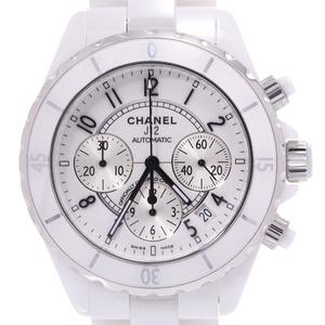 CHANEL J12 Chronograph Ceramic Automatic Mens Watch H1007