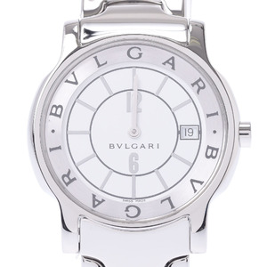 BVLGARI Solotempo Stainless Steel Quartz Mens Watch ST35S