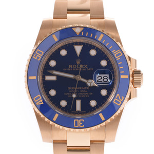 ROLEX Submariner Date 116618LB Mens 18K Gold Watch Automatic