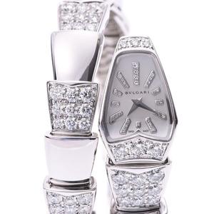 BVLGARI Serpenti Diamond MOP Dial Ladies 18K White Gold Quartz Watch SPW26G