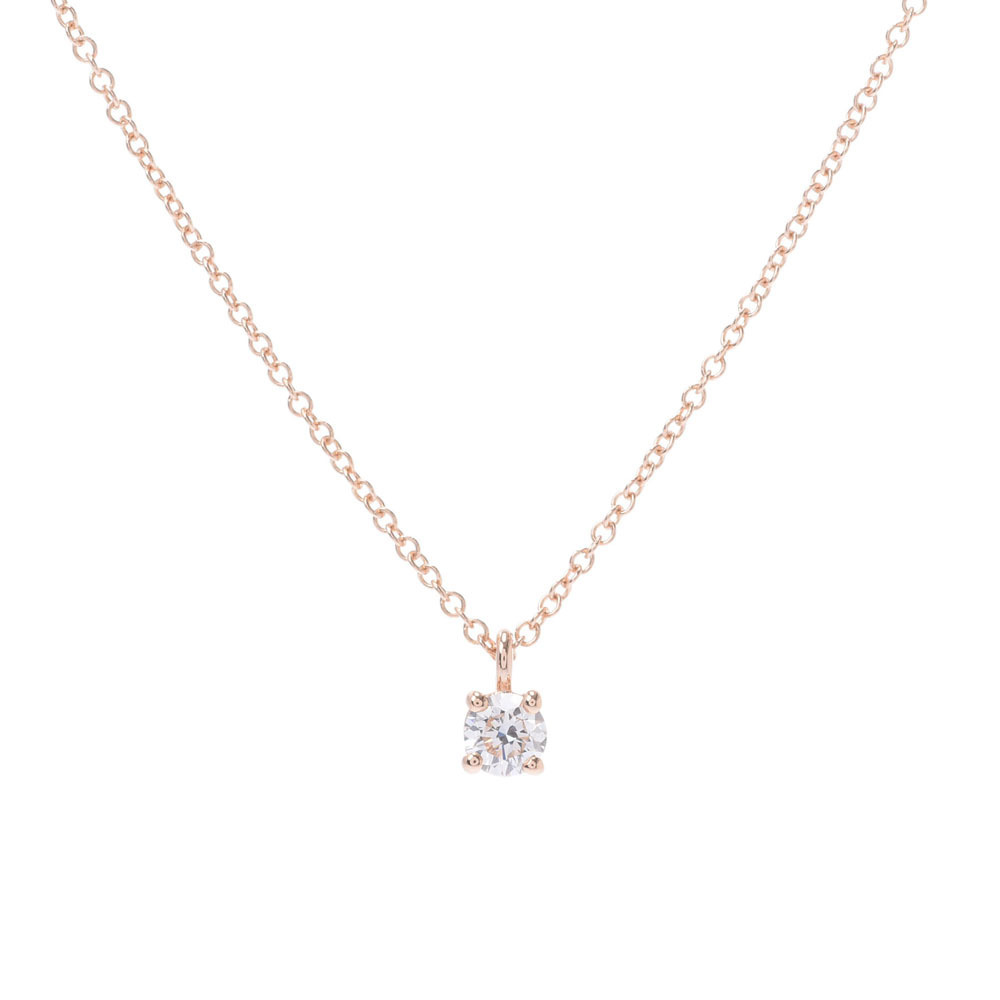 Tiffany Co Tiffany Solitaire Necklace One Diamond Ladies K18rg Elady Com
