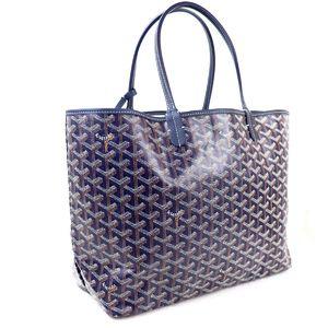 GOYARD ARTOIS Artois PM Toad Bag Handbag PVC canvas with pouch Navy M2-8814