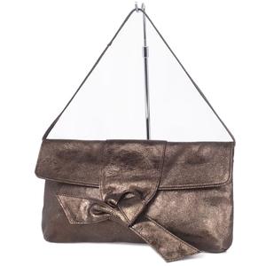 Furla Ribbon Semi Shoulder Bag Calf Leather Ladies Brown