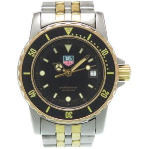 Tag Heuer Professional 200m WD1420-G-20 Quartz Wrist Watch SS Black Gold Silver Dial TAG HEUER Ladies