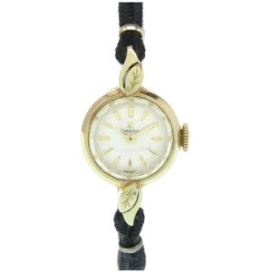 OMEGA Manual winding cut glass K14YG watch Cal.483 Antique 0148 Ladies