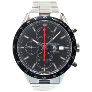 TAG HEUER Carrera Tachymeter Racing Chronograph CV2014 Automatic Wrist Watch Stainless Steel Black Dial Mens