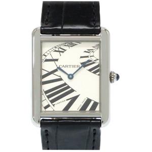 Cartier Tank Solo LM Animation W5200017 Quartz Watch SS Silver CARTIER Mens