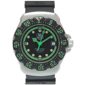 Tag Heuer Formula 1 WA1415 Quartz Watch SS Rubber Green Black TAG HEUER Ladies