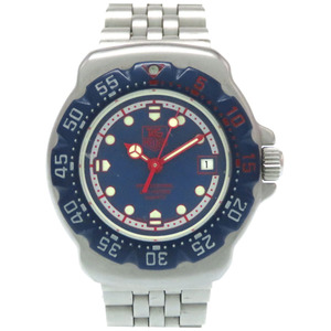 TAG Heuer Formula 1 Quartz Wrist Watch 370.508 Stainless Steel Blue Dial HEUER Ladies
