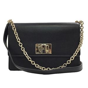 Furla Shoulder Bag BAFK ARE O60 1927 Mini MINI Black Leather FURLA Ladies Chain