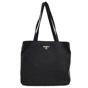 Prada Tote Bag B9713 Pocono Black Nero Silver Hardware Nylon PRADA Ladies Men's Unisex