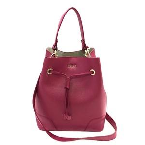 Furla 2WAY bag 2400011482747 Pink leather FURLA Ladies drawstring Handbag Shoulder