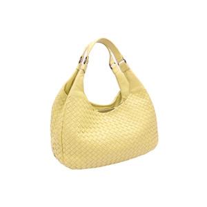 Bottega Veneta Bag Intrecciato Yellow Leather Shoulder BOTTEGA VENETA Women