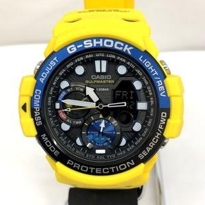 G-SHOCK CASIO Casio watch GN-1000-9A GULFMASTER Twin Sensor Gulf master Ana digi yellow quartz men's world time 418789 RY2894