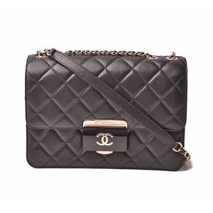 Chanel Shoulder Bag Handbag 2way CHANEL Matrasse Chain Quilted Stitch Black Gold