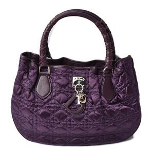 Christian Dior Handbag Tote Canage Stitch Amethyste Amethyst NLM441621