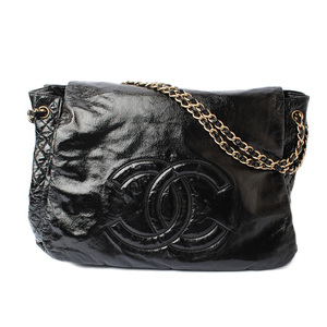 Chanel Chain Shoulder Bag CHANEL Tote Nylon Quilted Black