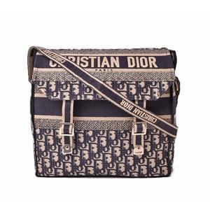 Christian Dior Messenger Bag Shoulder DIORCAMP Blue