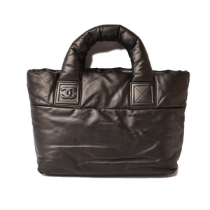 Chanel Tote Bag Reversible CHANEL Coco Cocoon Small All Leather Black Bordeaux A47108
