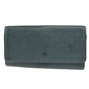 Louis Vuitton Taiga Multicle 4 Unisex Leather Key Case Green