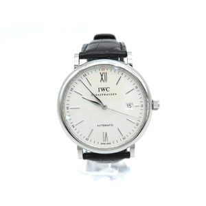 IWC Portofino Steel Leather Automatic Mens Watch IW356501
