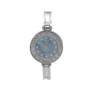 BVLGARI B-Zero1 Diamond Blue MOP Dial Steel Ladies Watch BZ22S