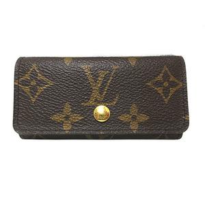 Louis Vuitton Monogram Key Case 4 Multiquere Brown Gold Hardware Men Women Ladies M62631 LOUIS VUITTON