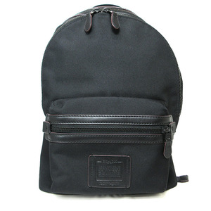 Coach Rucksack Backpack Bag Cordura Academy Mens Black Canvas Leather F29474 COACH