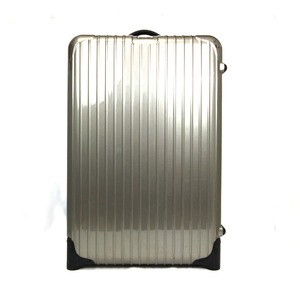 Rimowa suitcase carry bag travel polycarbonate gray