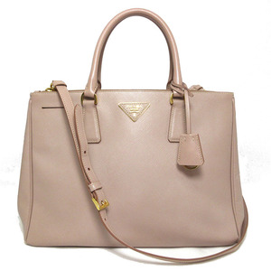 Prada Leather 2Way Hand Tote Shoulder Bag Galleria Light Pink Safiano Gold Hardware 1BA274 PRADA