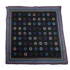 LOUIS VUITTON handkerchief scarf bandana black multicolor cotton 100%