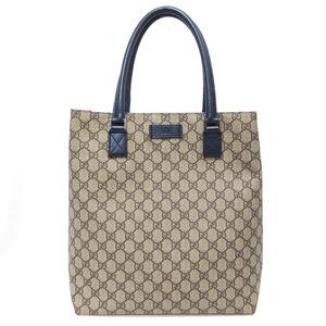 Gucci GG Tote Shoulder Bag PVC Leather Khaki Brown Green Blue Men Women 203998 GUCCI A4 Compatible