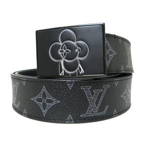 Louis Vuitton Belt Monogram Saint-Tour Vivienne 35MM Black Leather Men Women Ladies M0048V 85cm LOUIS VUITTON