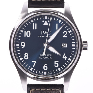 IWC Pilot's Watch Mark 18 Petit Prince IW327004 Mens Steel Leather Automatic